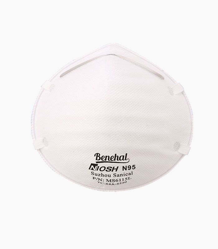 Benehal official MS6115 NIOSH N95 Particulate Respirator Mask from Medical Group Care | PPE Personal Protection Equipment NIOSH N95 Masks, KN95 Masks, 3-PLY Masks and other PPE items for individuals, hospitals, businesses and health organizations in the United States and Europe