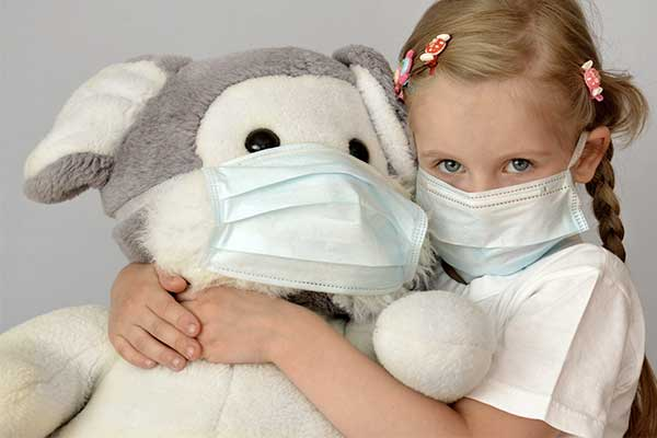 Child wearing 3-PLY Face Mask from Medical Group Care | PPE Personal Protection Equipment NIOSH N95 Masks, KN95 Masks, 3-PLY Masks and other PPE items for individuals, hospitals, businesses and health organizations in the United States and Europe